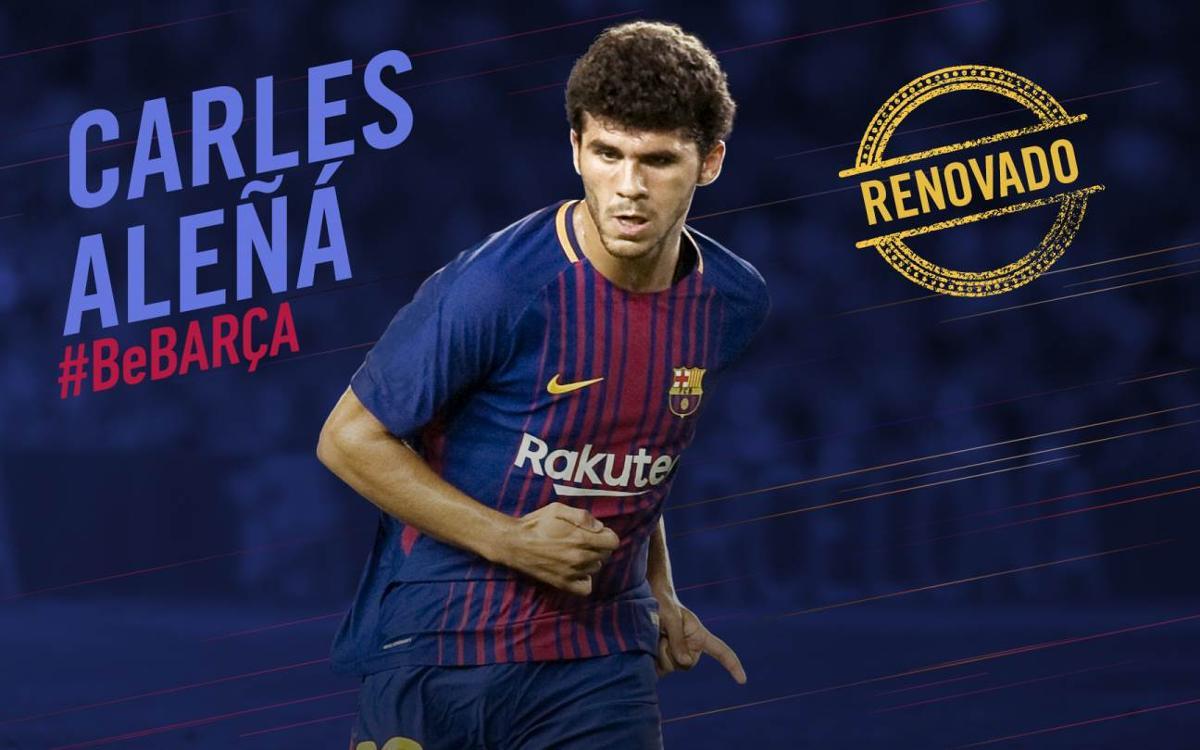 Carles Aleñá firma la renovación de su contrato