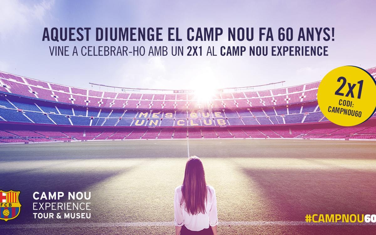 Celebra els 60 anys del Camp Nou venint al Museu del FC Barcelona!