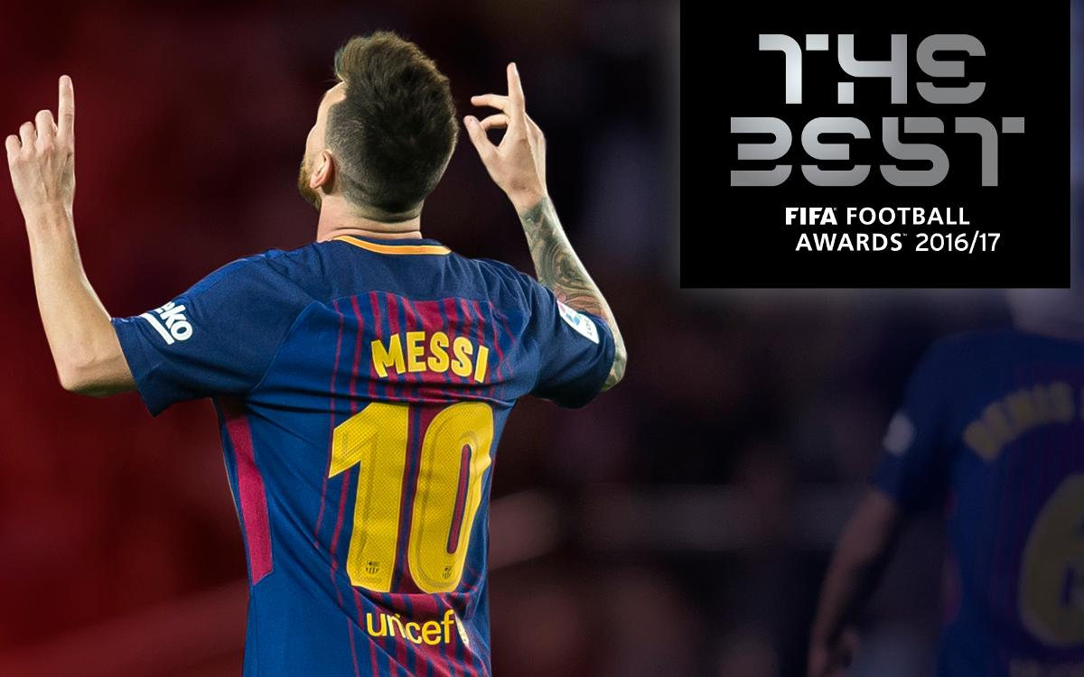 Leo Messi one of three 'The Best' candidates