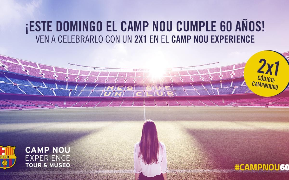 ¡Celebra los 60 años del Camp Nou viniendo al Museo del FC Barcelona!