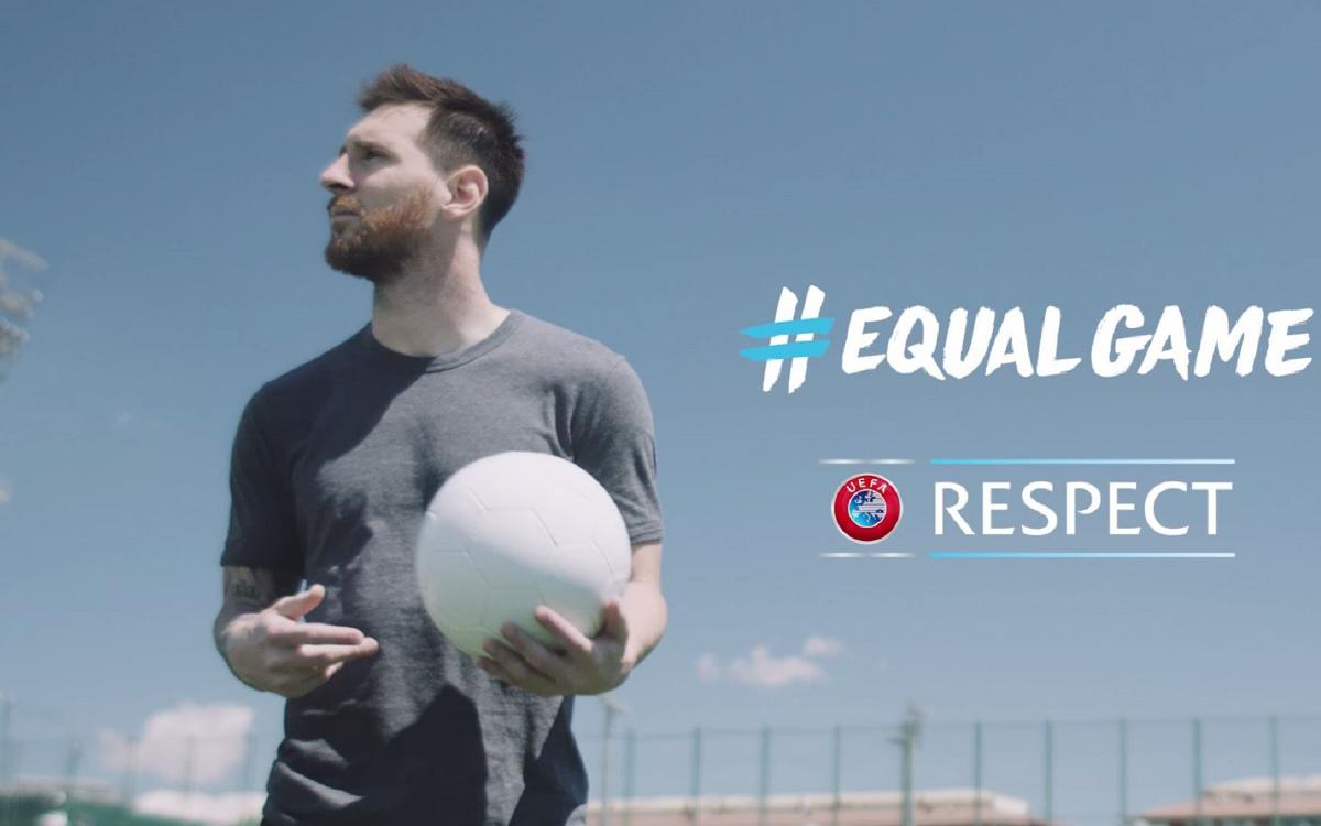 Leo Messi takes part in new UEFA campaign