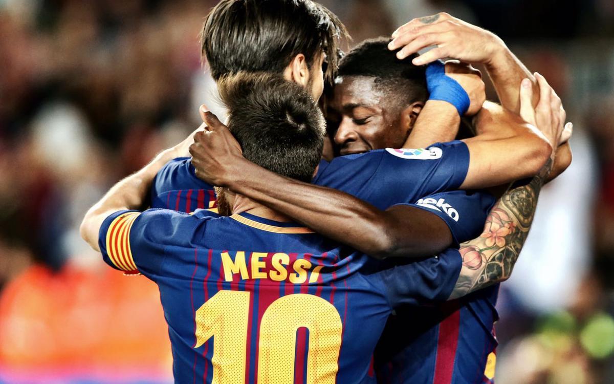 Així han estat els cinc gols del FC Barcelona contra l'RCD Espanyol