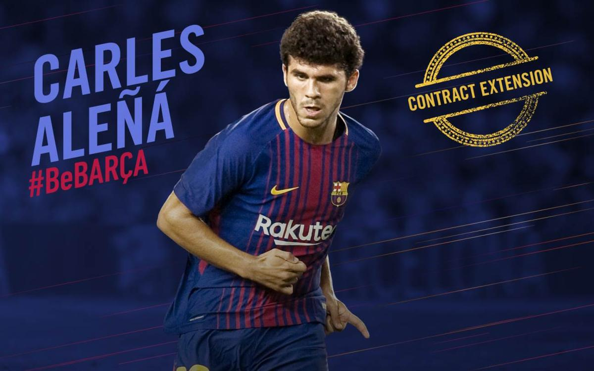 Carles Aleñá signs contract extension