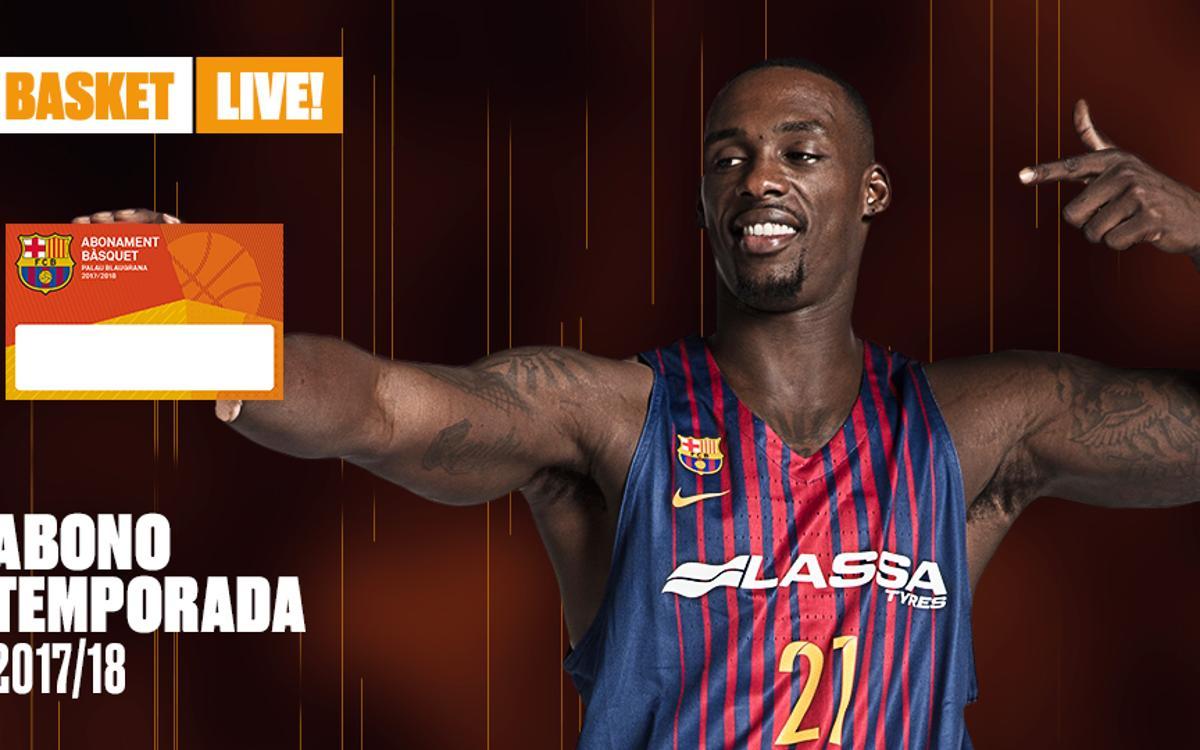 Proceso de petición de abonos de baloncesto para el Palau Blaugrana