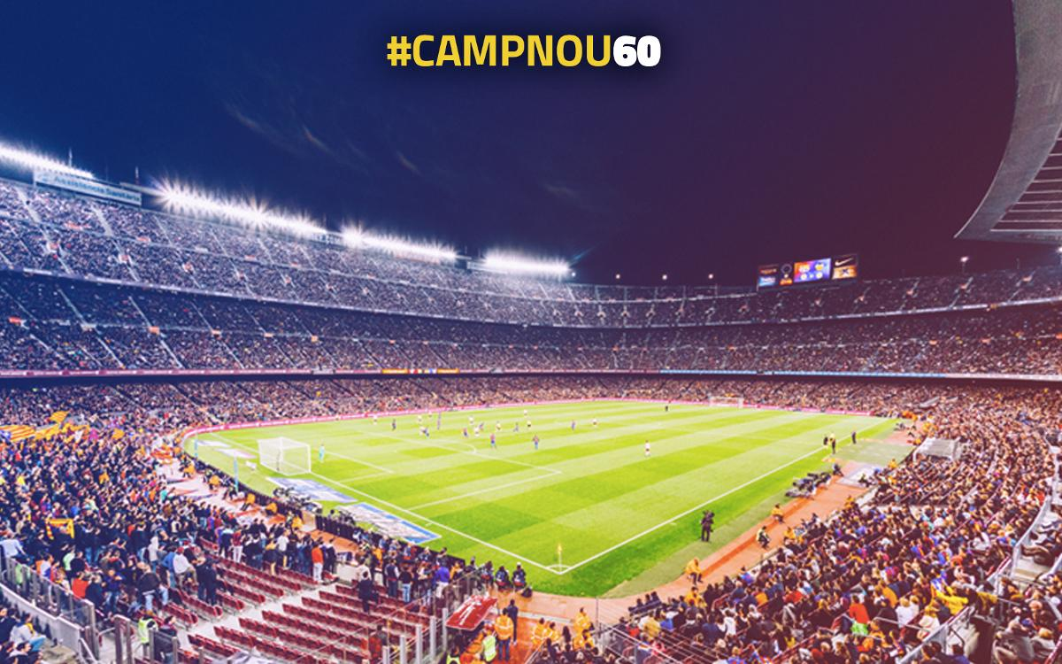Participate in #CampNou60 and relive unforgettable moments at the Stadium