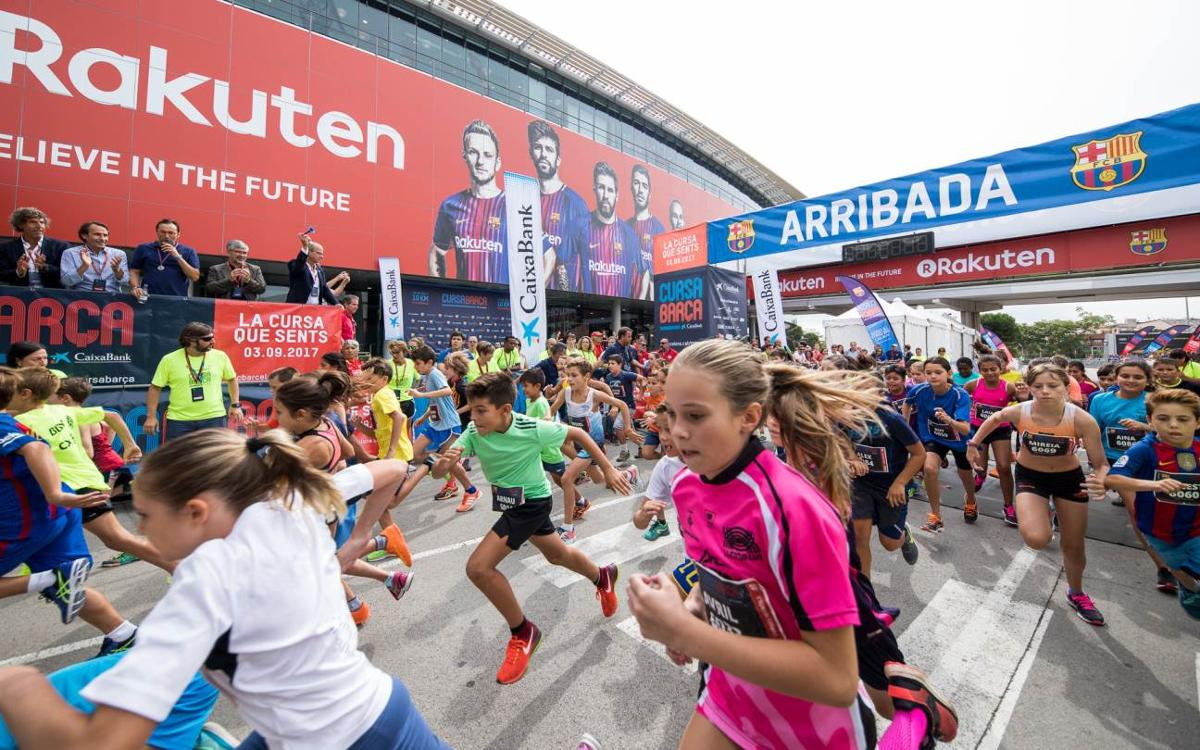 Éxito en las tres carreras infantiles de la Cursa Barça 2017