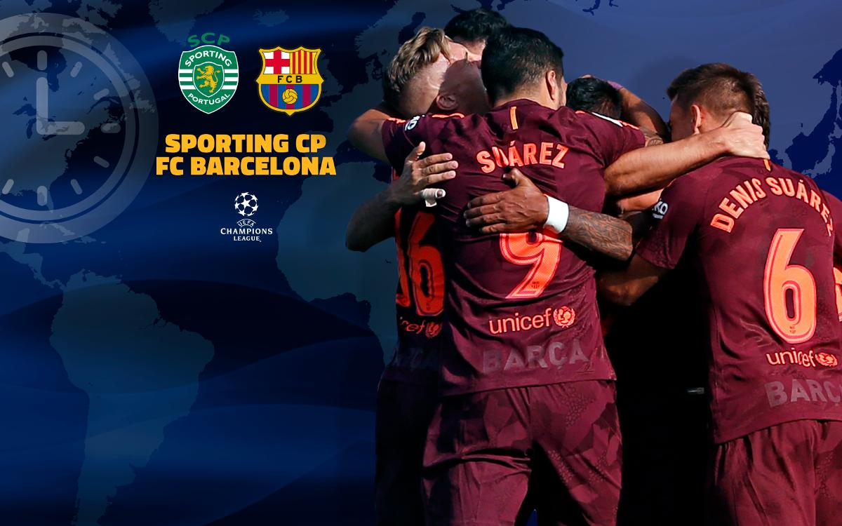 When and where to watch Sporting CP - FC Barcelona