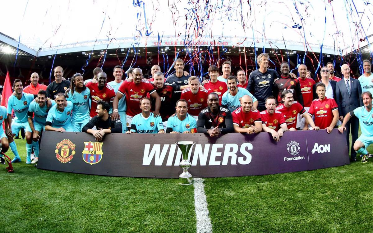 Vidéo - Les moments forts de Manchester United Legends – Barça Legends (2-2)