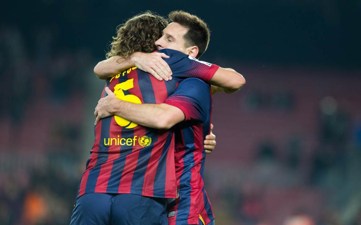 Leo Messi equals Carles Puyol's total of all time appearances for FC Barcelona