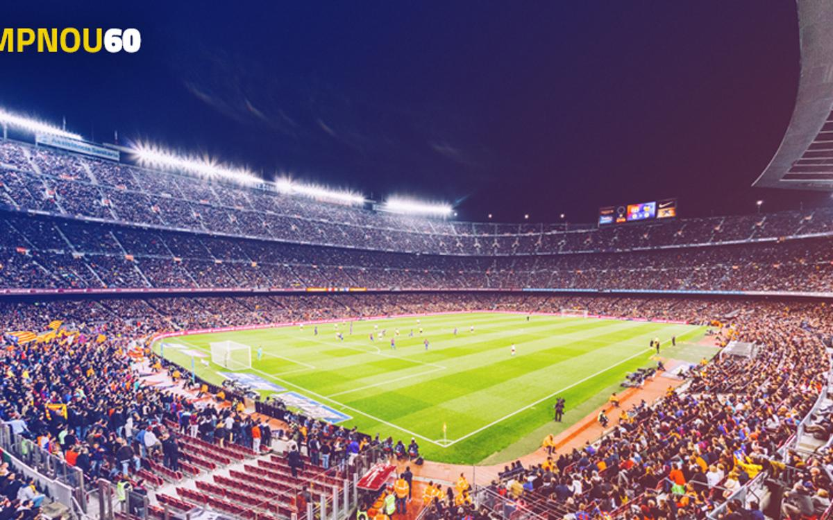 Participez à #CampNou60 et revivez des moments inoubliables au Stade