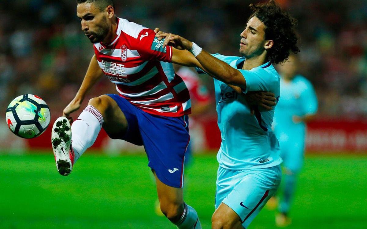 Granada CF - FC Barcelona 'B': Empate de carácter (2-2)