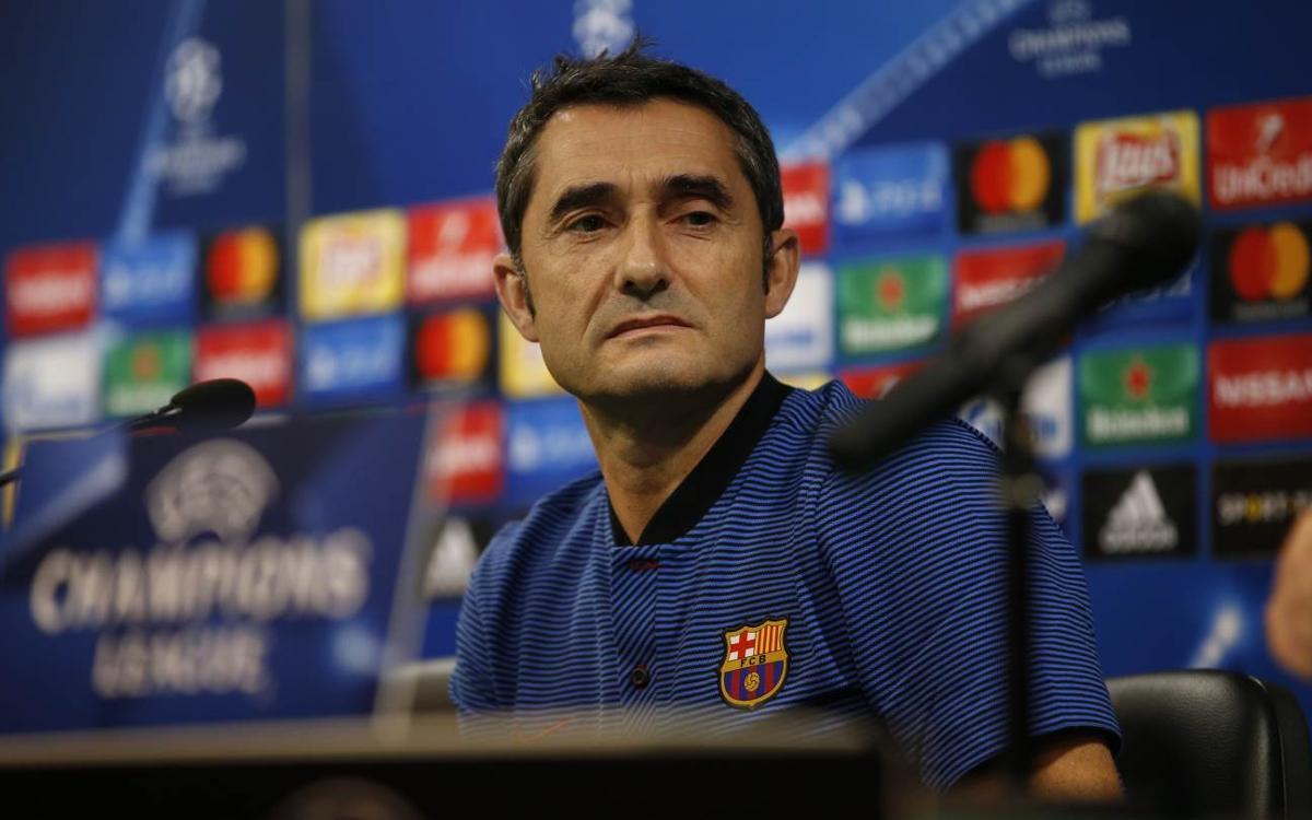 """Ernesto Valverde: """"Todos somos consciente del nivel del rival"""""""