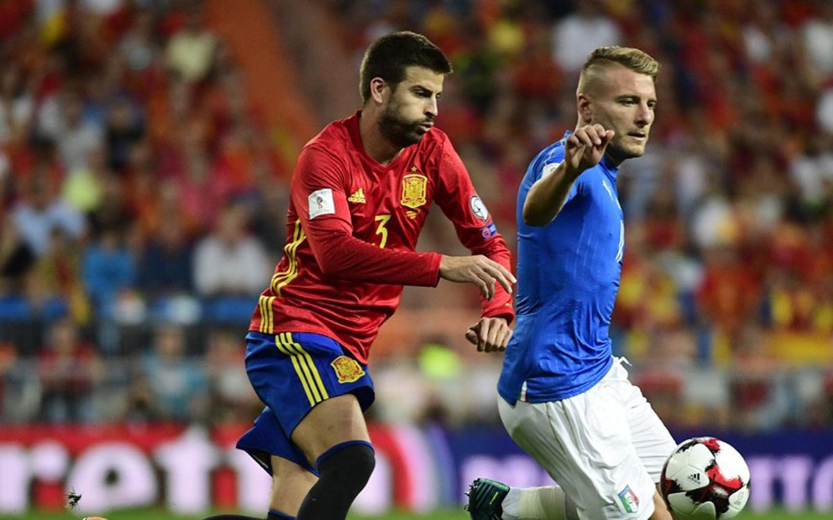 Cuatro azulgranas protagonistas en la goleada de la selección española ante Italia