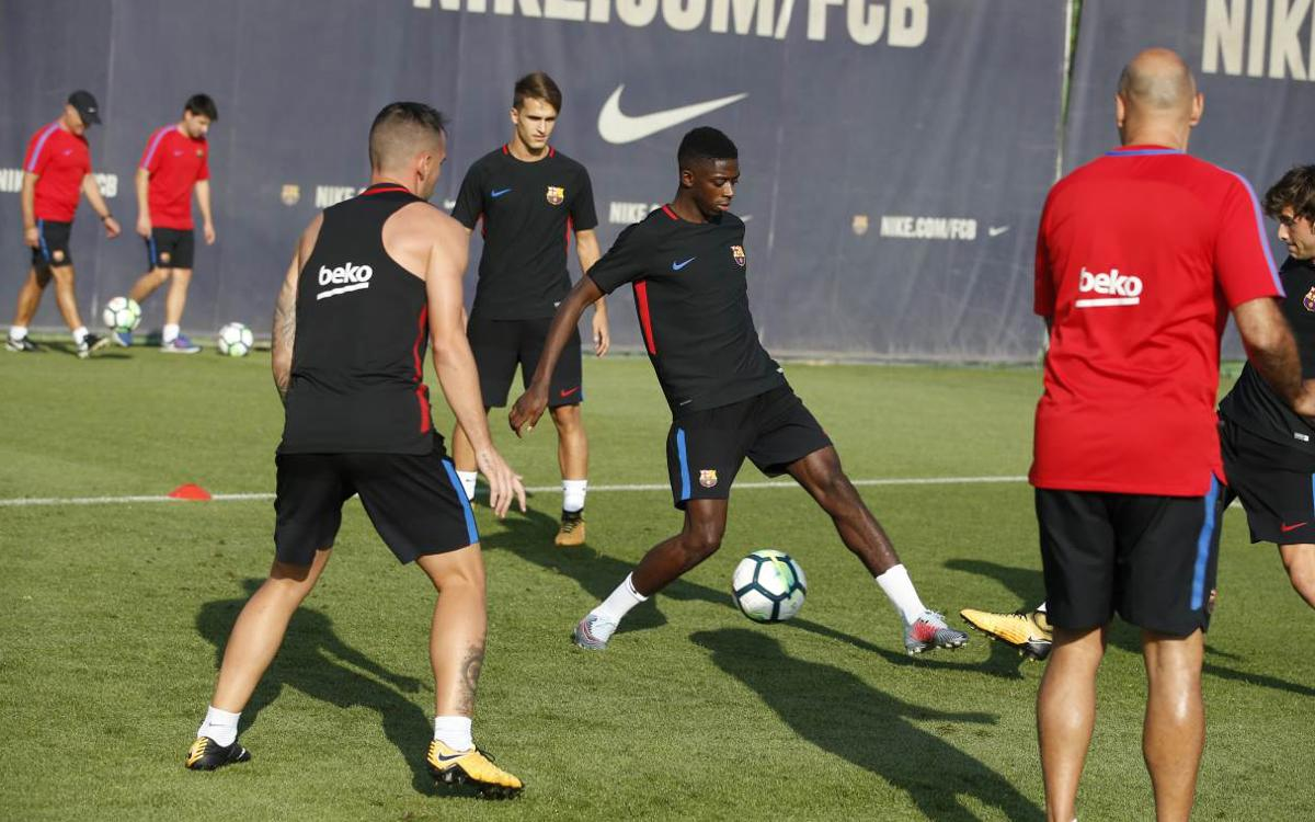 First session of Barcelona derby week