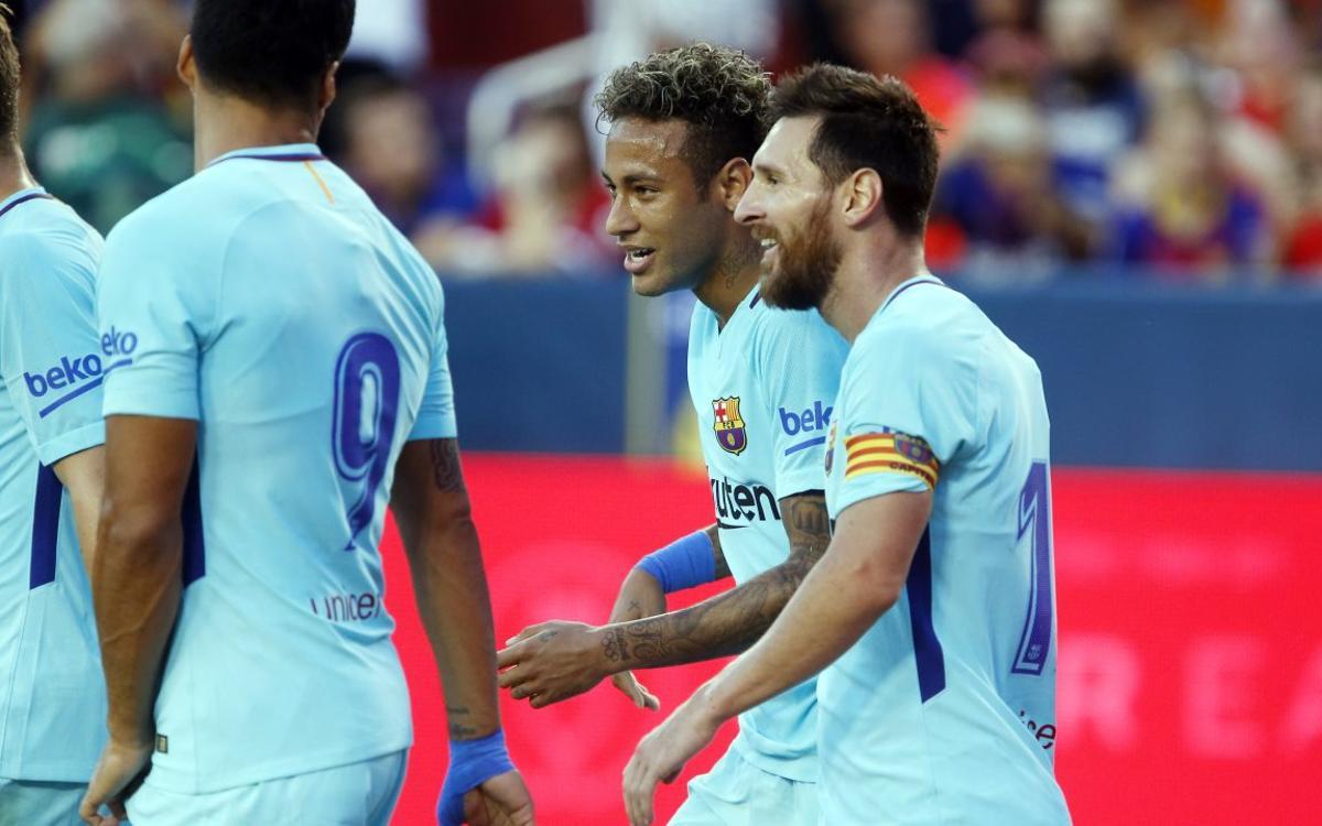 FC Barcelona – Manchester United: Neymar Jr decide el segundo amistoso (1-0)