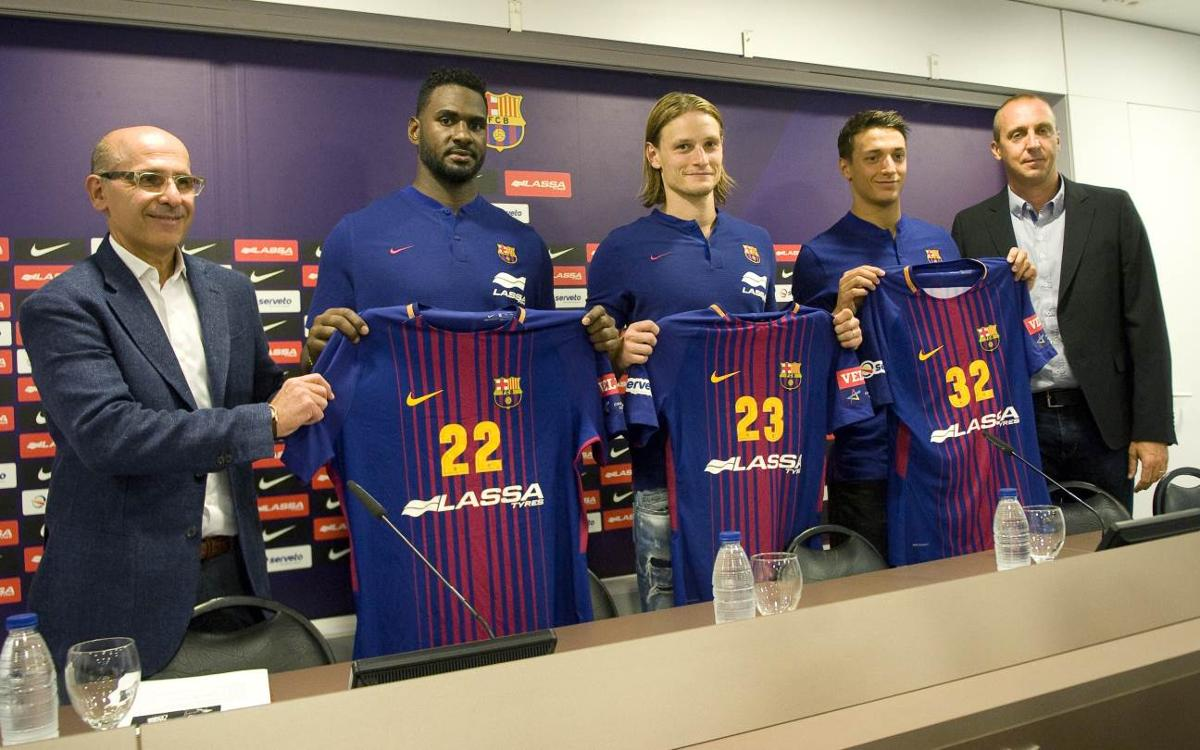 Triple presentació al Palau Blaugrana