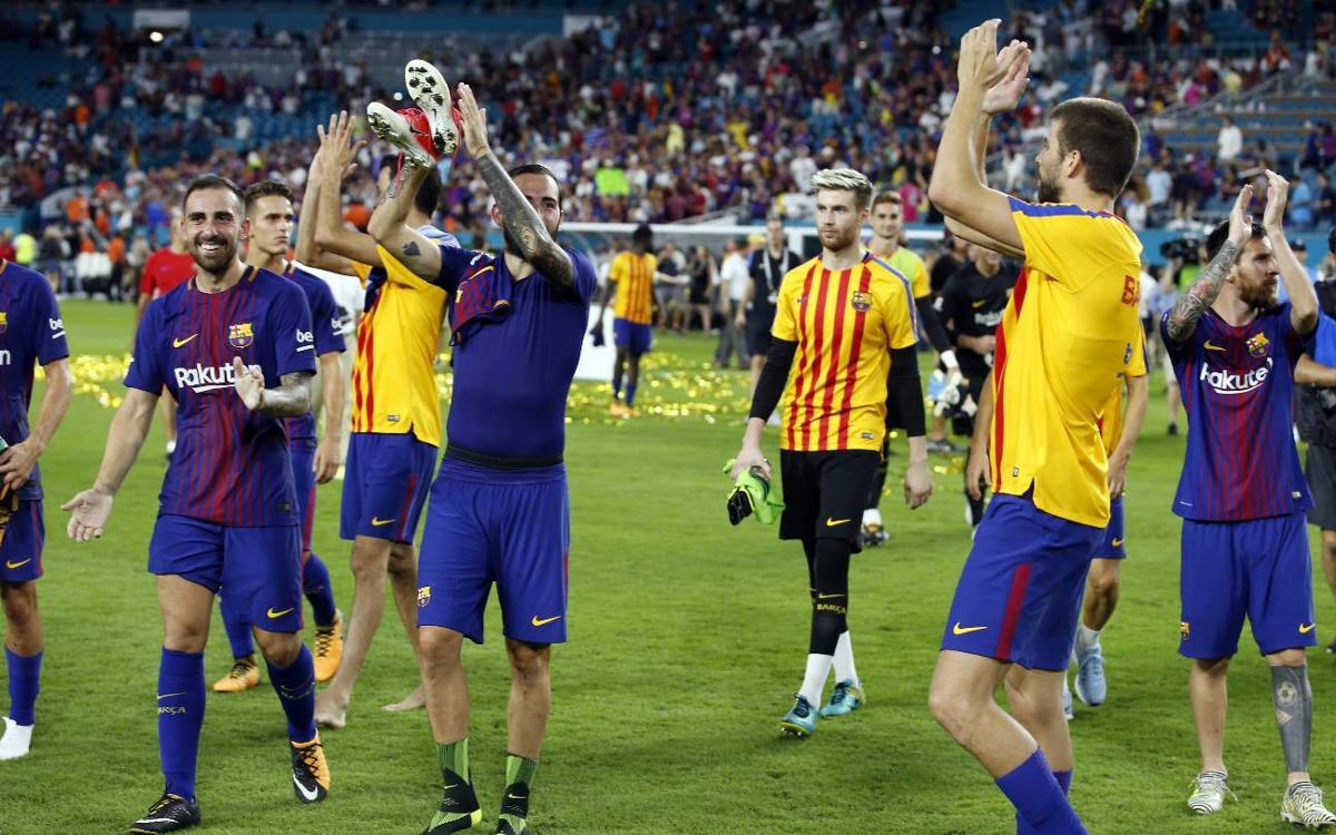 Le FC Barcelone vainqueur de l'International Champions Cup, Neymar meilleur buteur