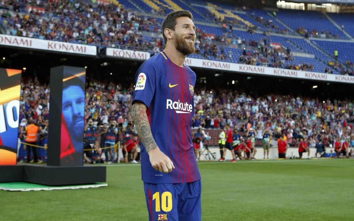 Camp Nou witnesses Barça squad presentation