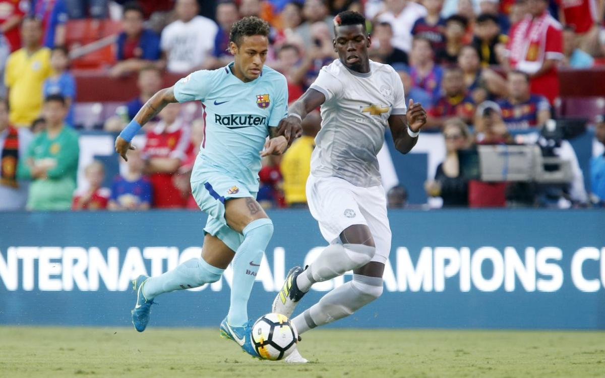 FC Barcelona beats Manchester United by the minimum in second stop on US tour