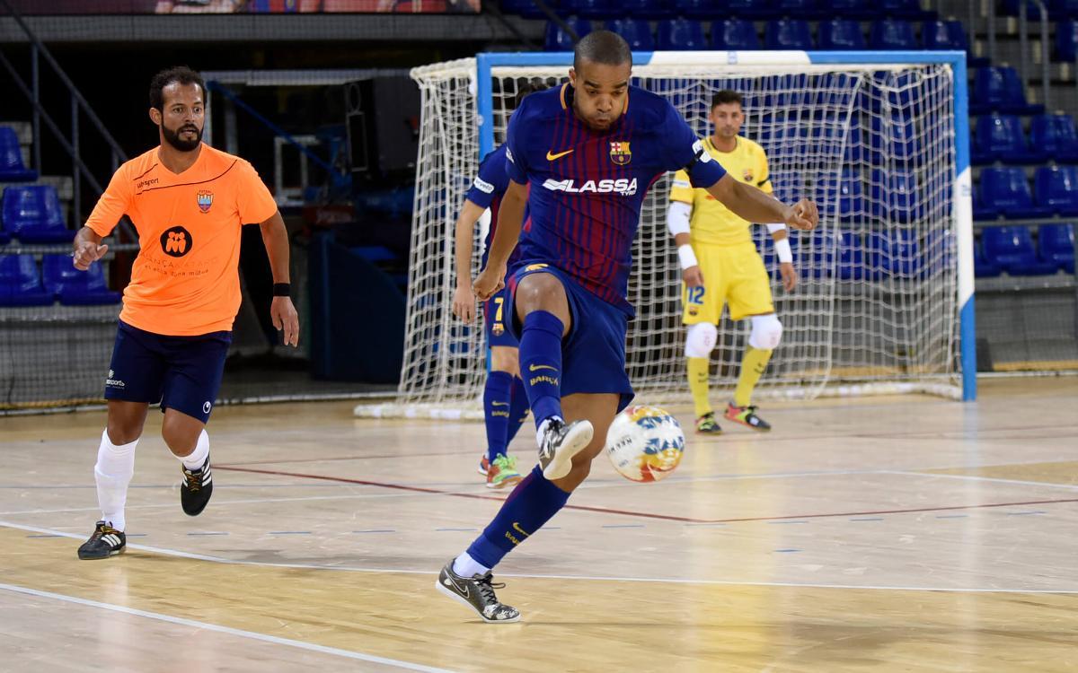 Primer assaig positiu contra el Mataró (6-0)