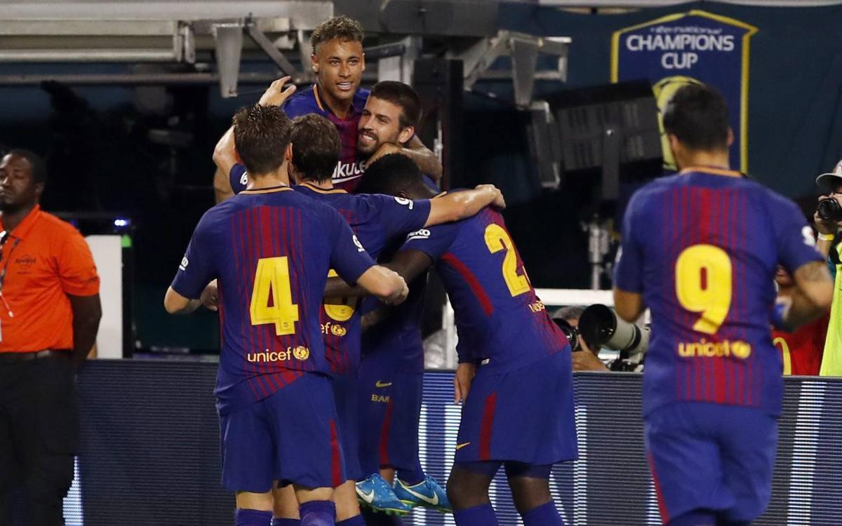 El FC Barcelona consigue su primera International Champions Cup con Neymar Jr como máximo goleador