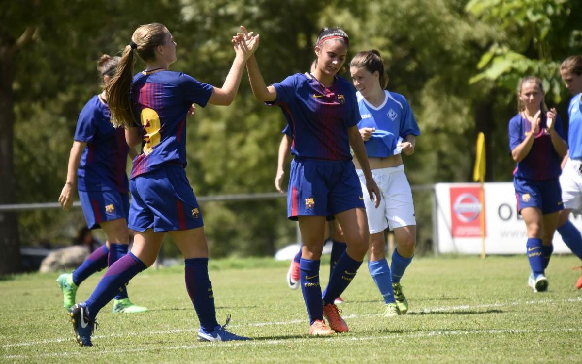 Barça Femení-AEM Lleida: Second win continues good form (9-0)