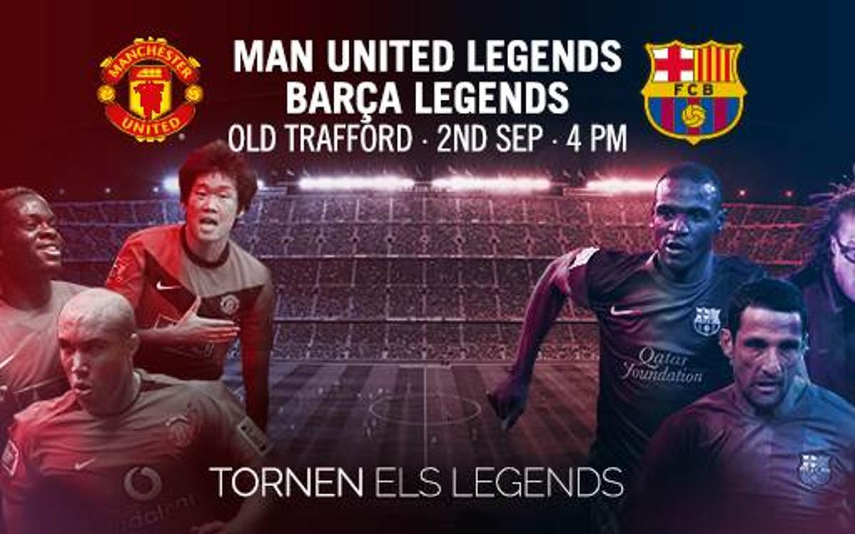 Albert 'Chapi' Ferrer dóna la llista dels Barça Legends davant els Manchester United Legends