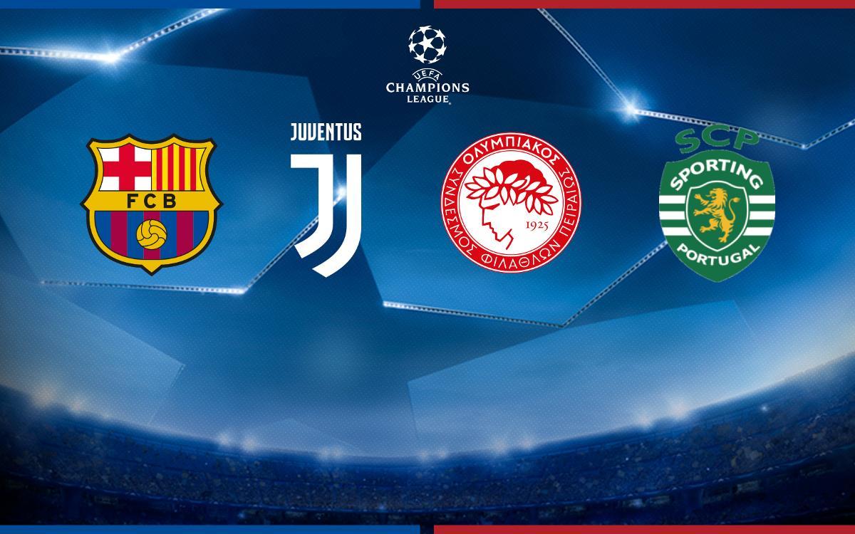 Le FC Barcelone, dans le groupe de la Juve, Olympiakos et le Sporting Portugal
