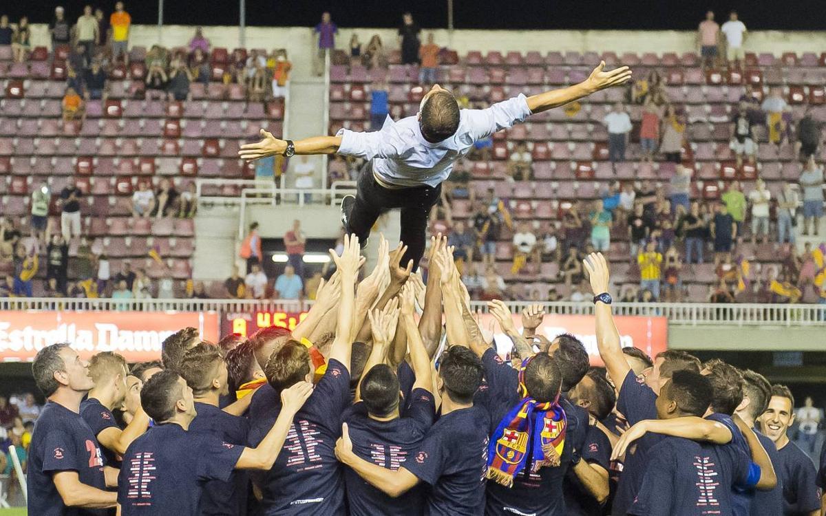 """Gerard López: """"Sóc enormement feliç per tornar a situar el Barça B on mereix"""""""