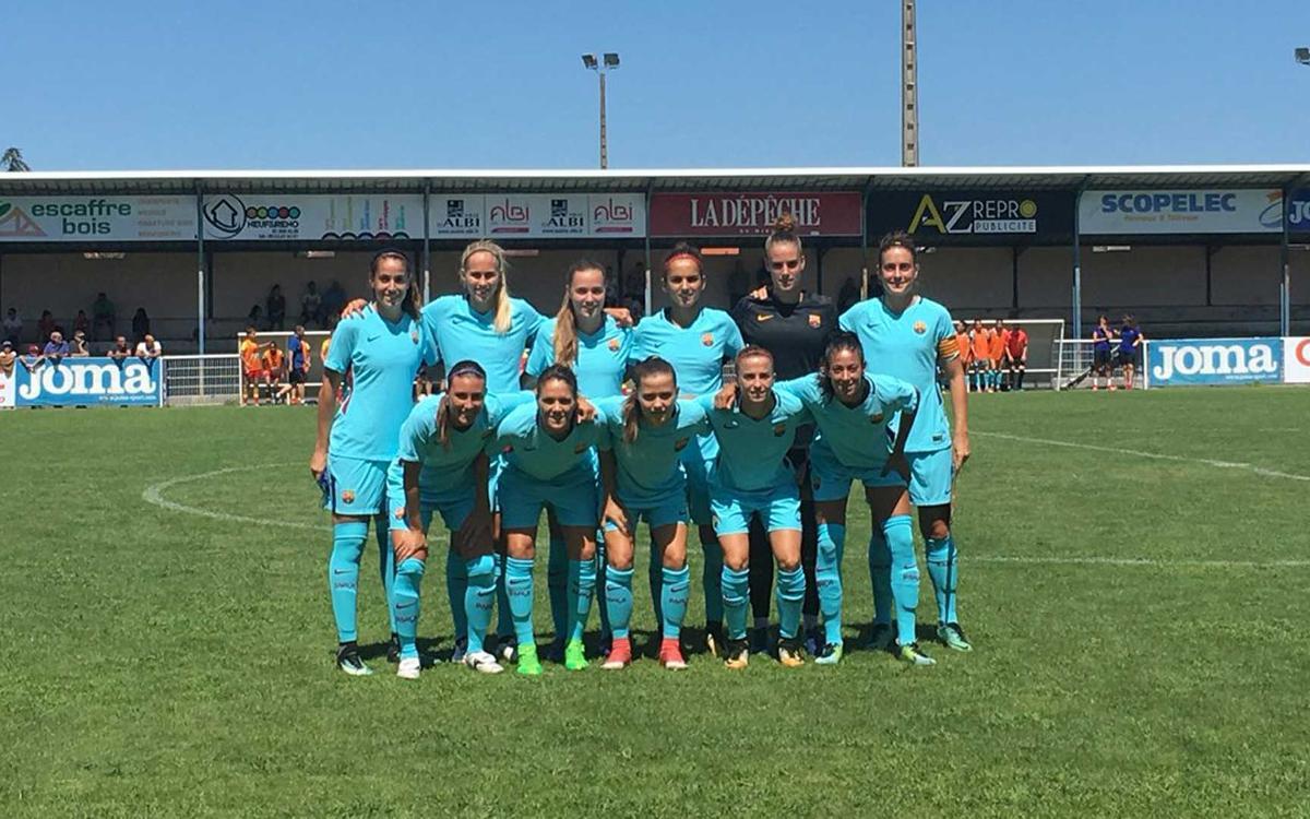 ASPTT Albi - FC Barcelona: Triunfo contundente para seguir progresando (0-4)