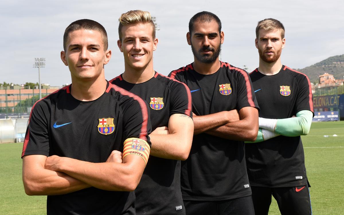 Palencia, Tarín, Fali y Ortolá, capitanes del Barça B