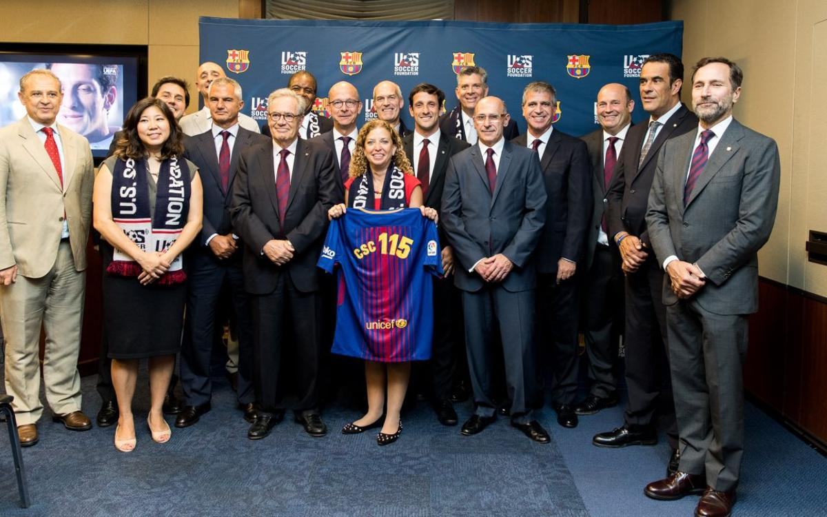 Barça visit the US Congress in Washington DC