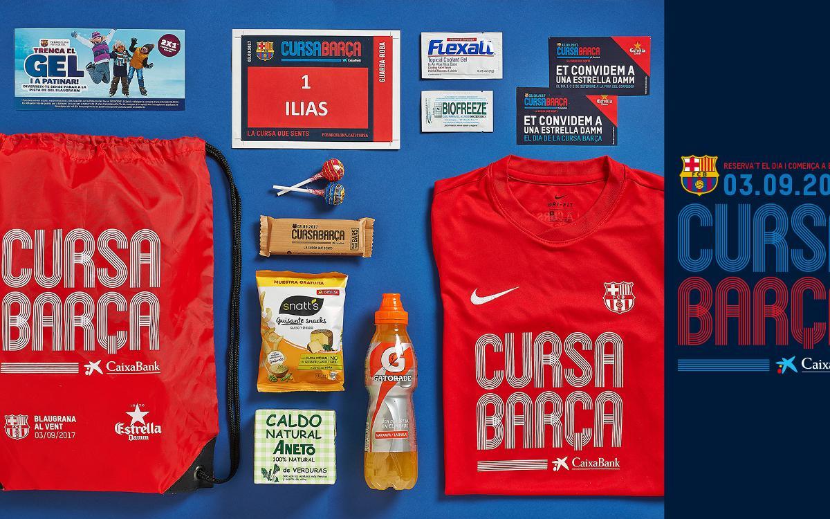 Los participantes en la Cursa Barça 2017 recibirán una bolsa del corredor llena de regalos y descuentos