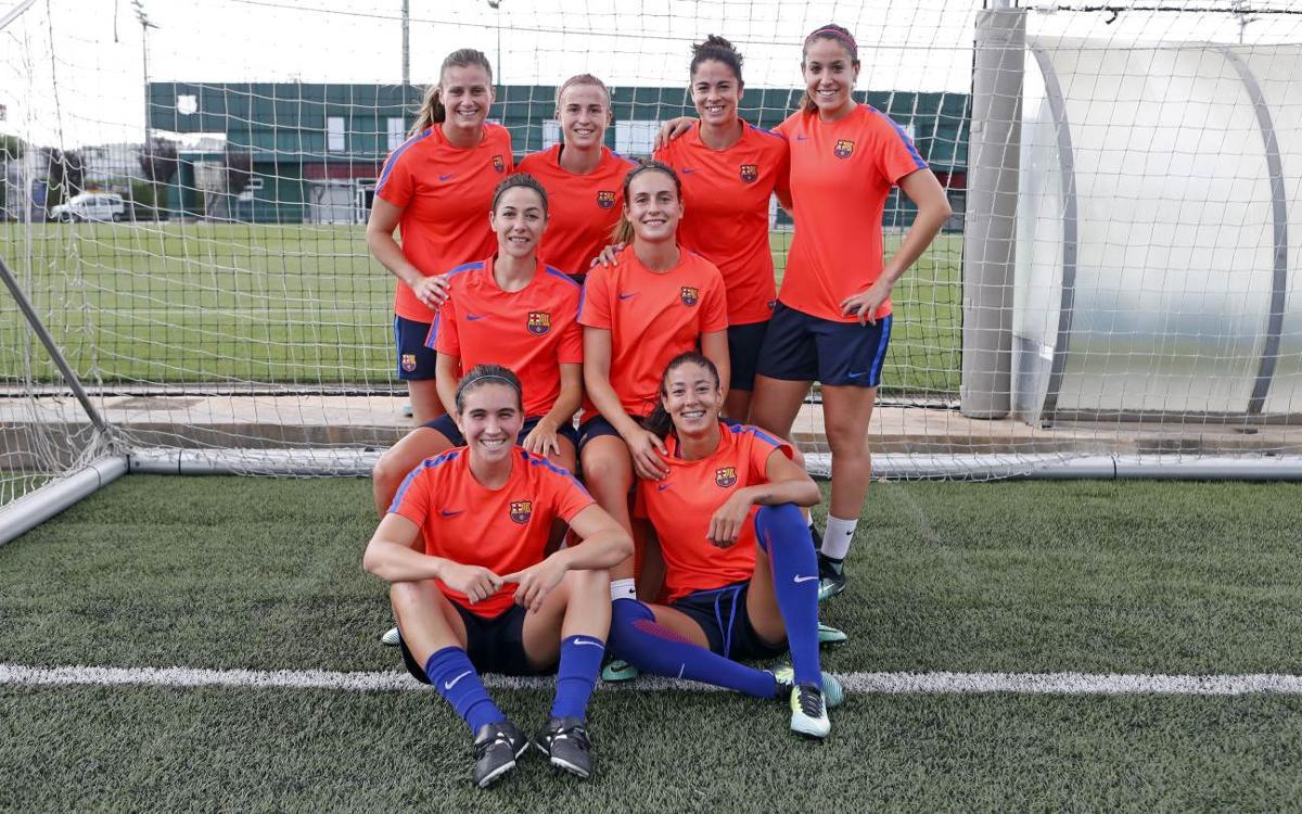 Las internacionales con España ya trabajan en Barcelona