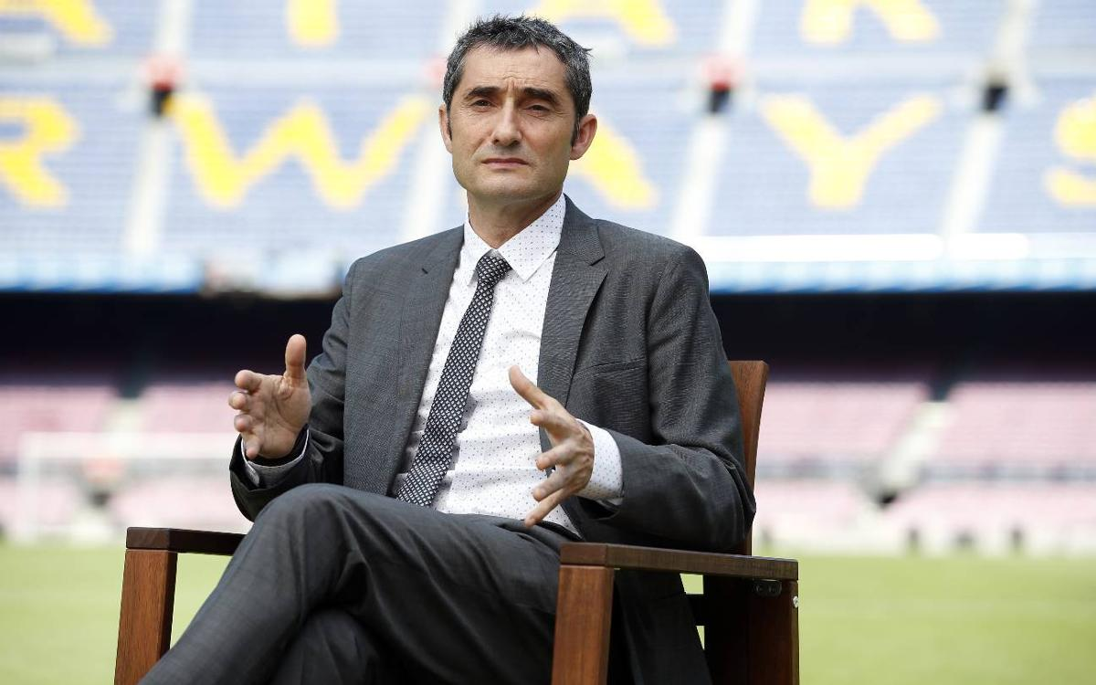 Valverde: I can't wait to start coaching at FC Barcelona