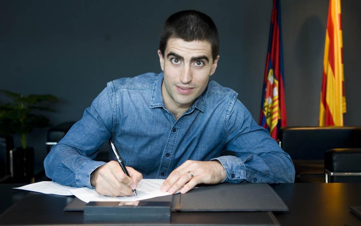 Marc Gual renueva por una temporada con el Barça Lassa