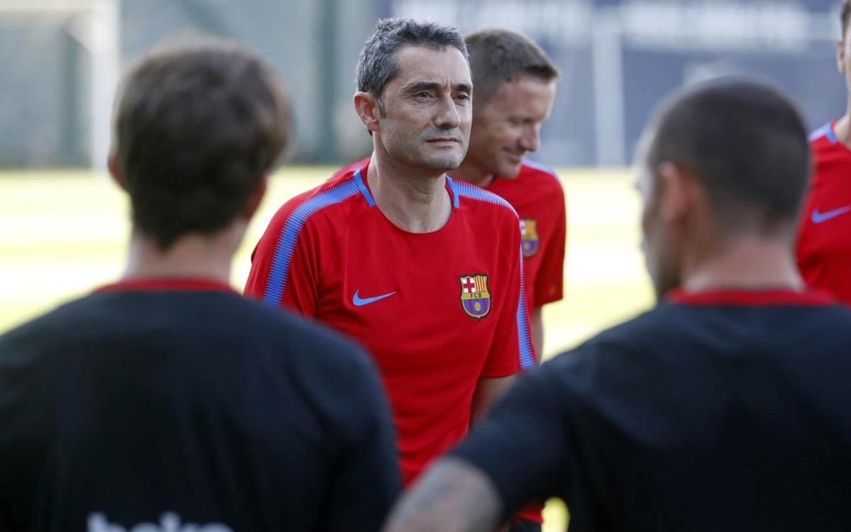 El primer entrenament de l'era Valverde