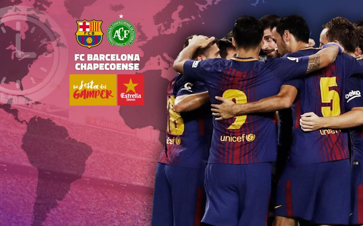 When and where to watch FC Barcelona v Chapecoense