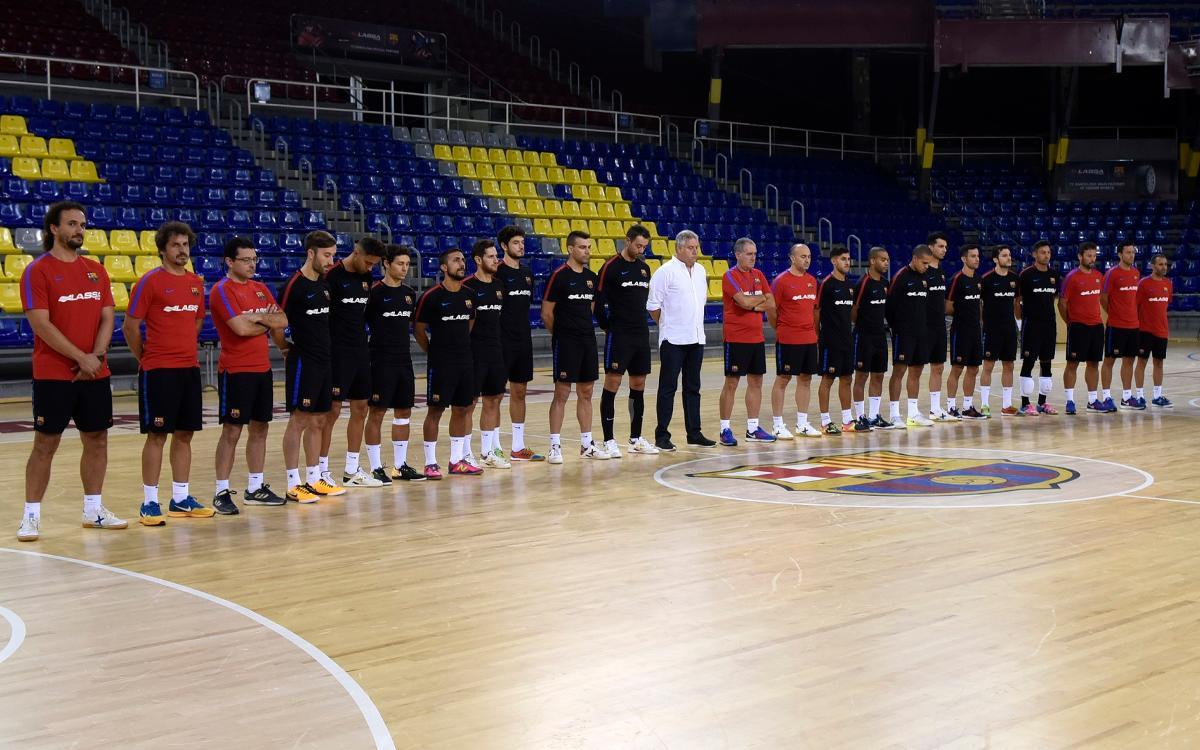 El Barça Lassa de futbol sala expressa el seu condol