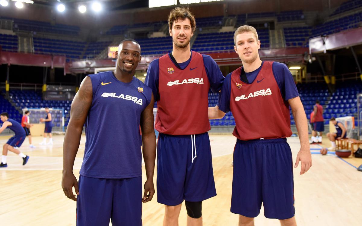 Sanders, Vezenkov y Tomic completan su primer entrenamiento con el Barça Lassa