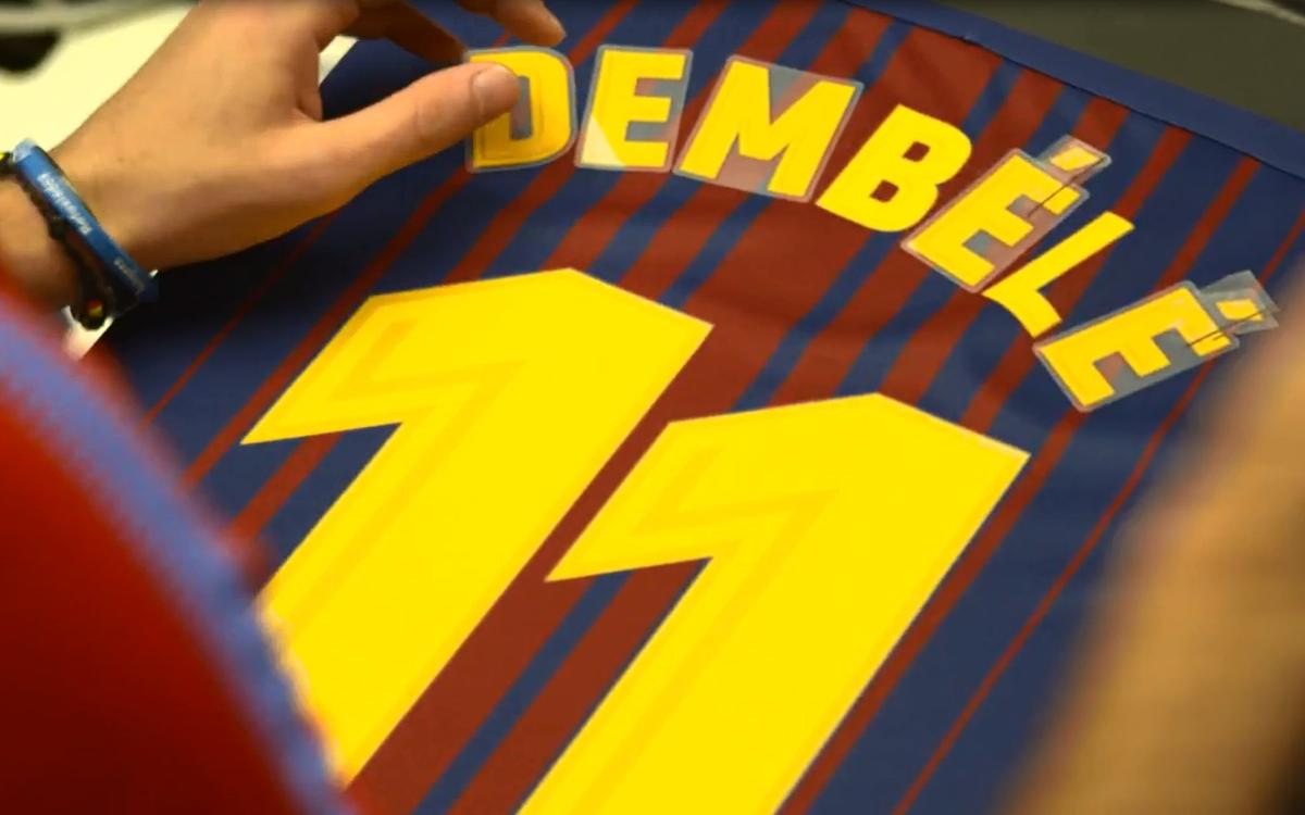 Ousmane Dembélé's presentation live on BarçaVIDEO