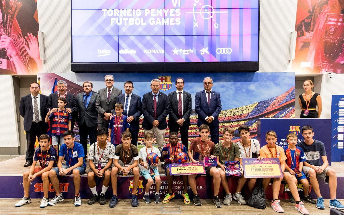 Una setenta de jóvenes participan en el Torneo Peñas Fútbol Games
