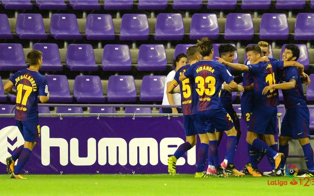 Real Valladolid - FC Barcelona B: Regreso por la puerta grande (1-2)