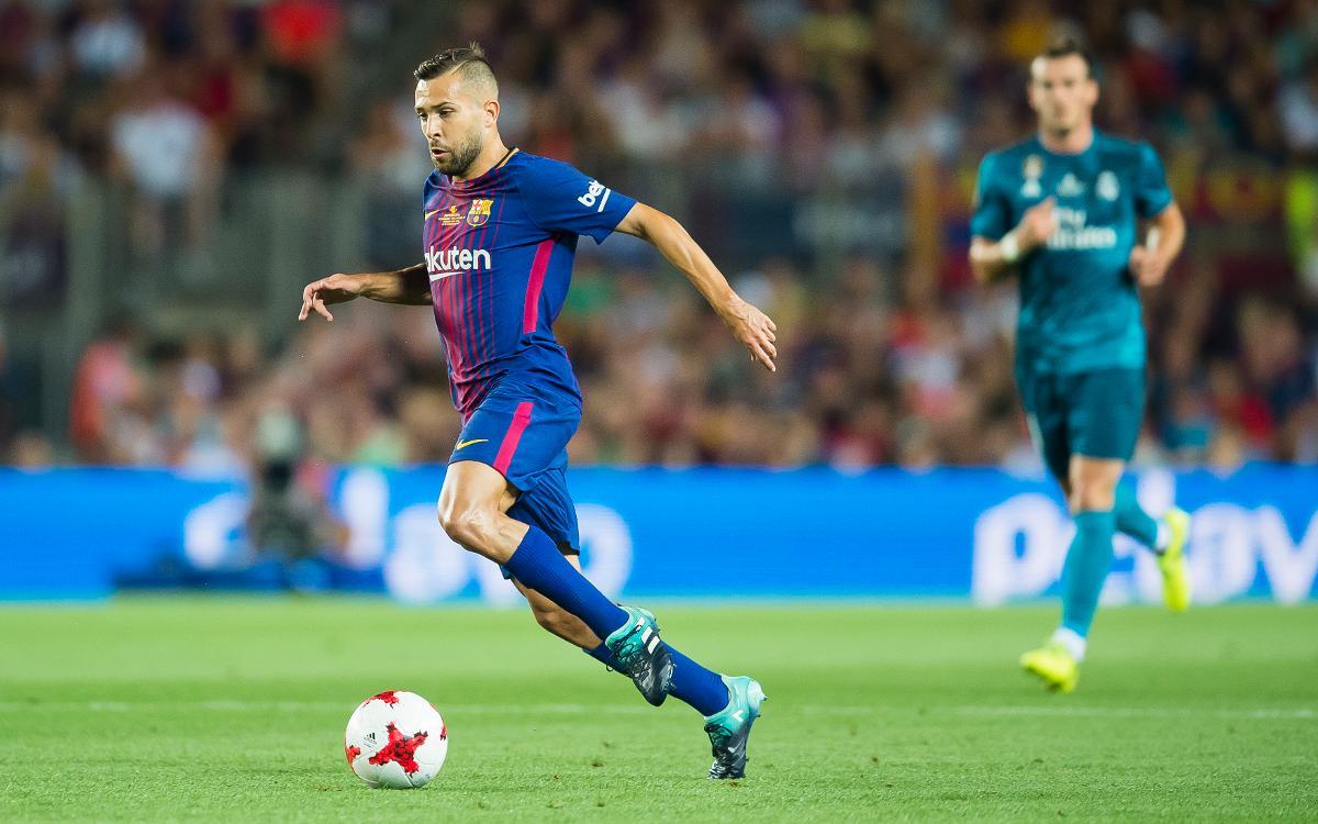 Jordi Alba, a un partit dels 200 oficials amb el FC Barcelona