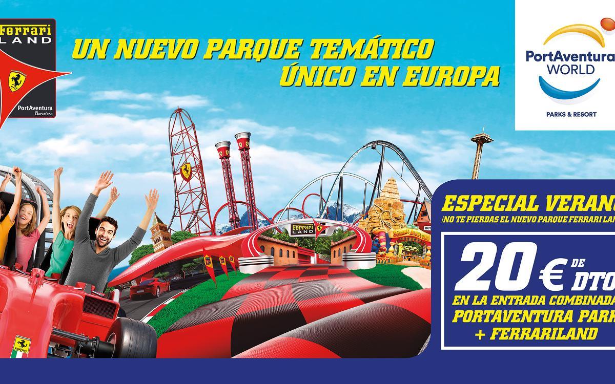 20 € de descuento en la entrada combinada a PortAventura Park y Ferrari Land