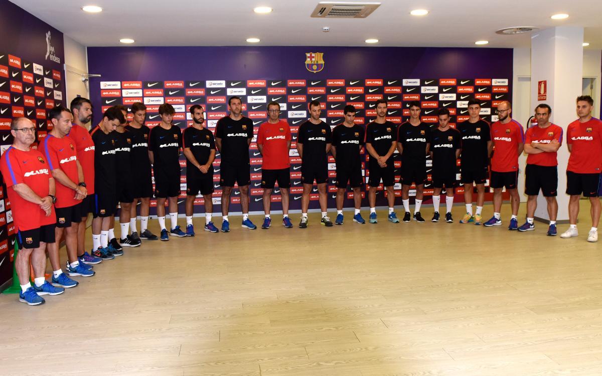 El Barça Lassa d'hoquei patins se suma a les mostres de condol pels atemptats de Barcelona