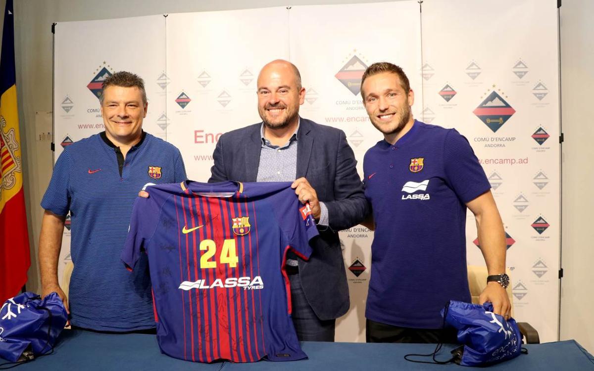 """Xavi Pascual i Víctor Tomàs: """"Sempre és un plaer venir a Encamp"""""""