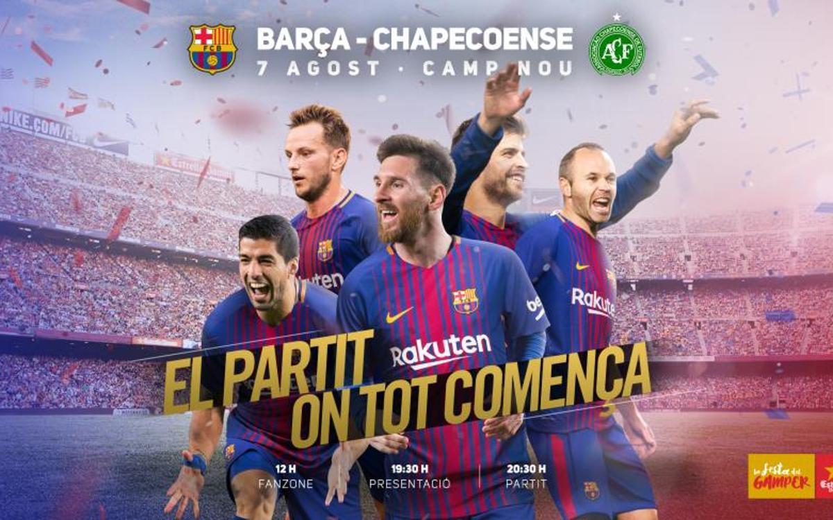 Fiesta familiar en el Camp Nou con motivo del Trofeu Joan Gamper