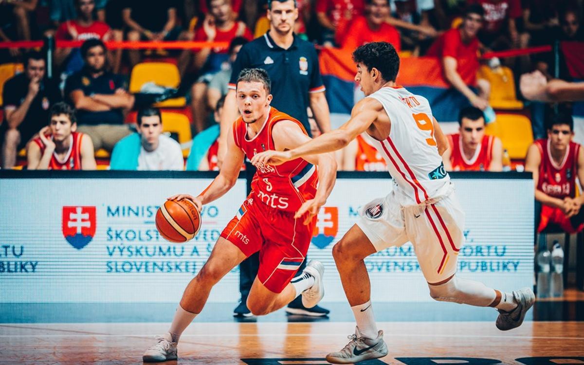 La Sèrbia de Marjanovic, campiona d'Europa Sub 18
