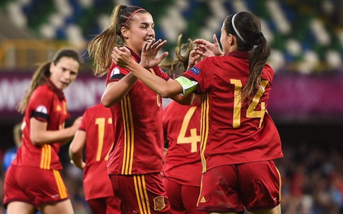 Patri i Aitana, campiones d'Europa sub-19 amb Espanya (3-2)